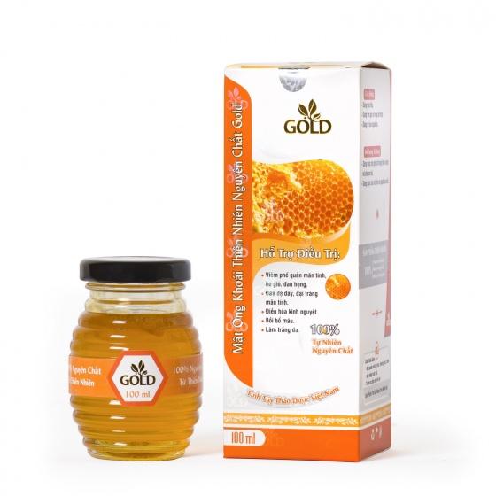 Mật ong khoái thiên nhiên nguyên chất Gold 100 ml
