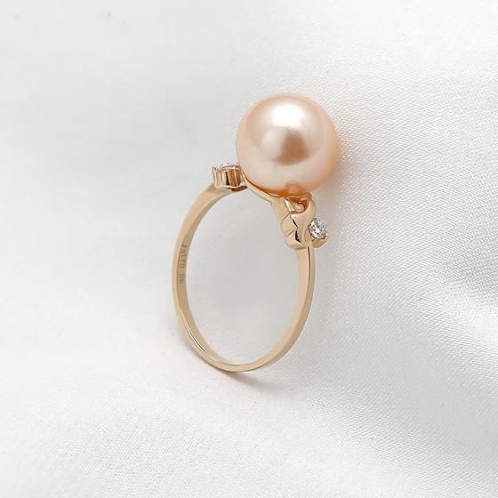 Nhẫn vàng 18k ngọc trai Orange Charming