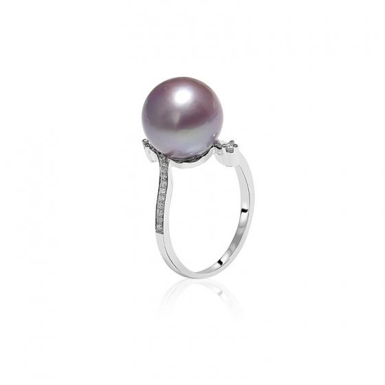 Nhẫn vàng 18k ngọc trai Purpink Pearl