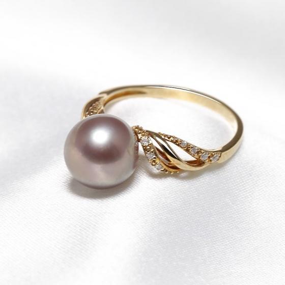 Nhẫn vàng 18k ngọc trai Royale Pearl