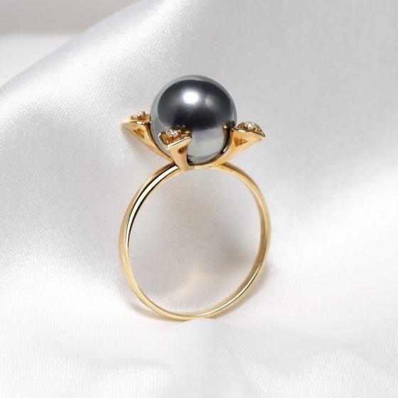 Nhẫn vàng 18k ngọc trai Mysterious Forle