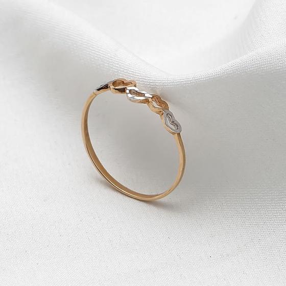 Nhẫn vàng 18k Five Heart