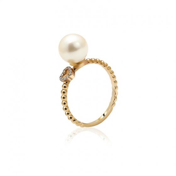 Nhẫn vàng 18k Princesse Pearl