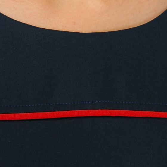 Đầm suông công sở Eden phối viền D306 (xanh đen)