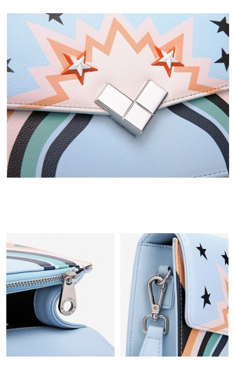 Túi hộp hình Venuco Madrid S389 màu xanh da trời
