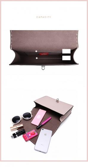 Túi xách viền chỉVenuco Madrid S369 màu nâu