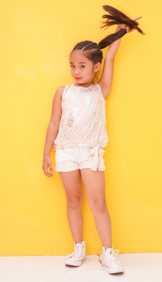 Áo kiểu bé gái Ugether cột nơ lai UKID200