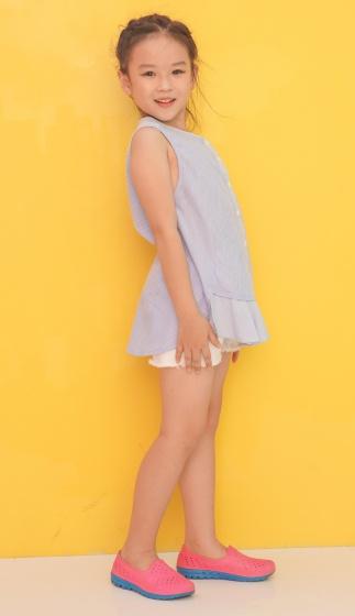 Áo kiểu bé gái Ugether phối bèo tầng UKID205