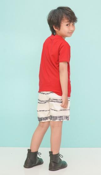 Quần shorts bé trai Ugether sọc xanh trắng UKID220