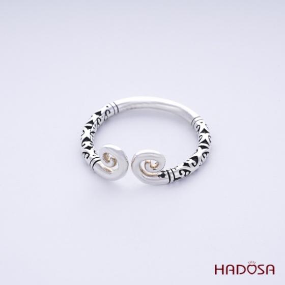 Nhẫn nam bạc thái kim cô Hadosa