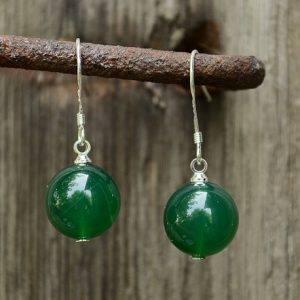 Opal - Vòng cổ đính mặt đá xanh kèm vòng tay đá xanh phong thủy_T09