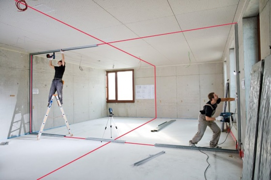 Máy đo mực laser tia đỏ