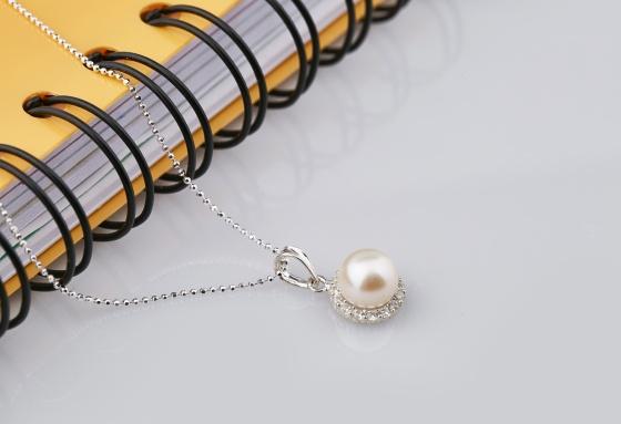 Opal - Dây chuyền bạc kèm mặt bạc hoa mặt trời đính ngọc trai trắng_T09