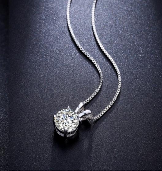 (SIÊU SALE) Dây chuyền bạc kèm mặt thỏ bạc đá trắng Opal - T09
