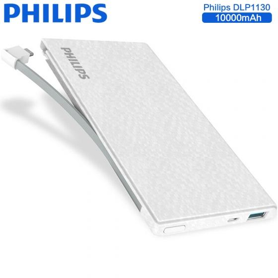 Pin sạc dự phòng Philips DLP1130V 10000mAh tích hợp cáp Lightning