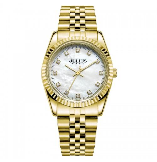 Đồng hồ nam JA-1069MD Julius thép vàng