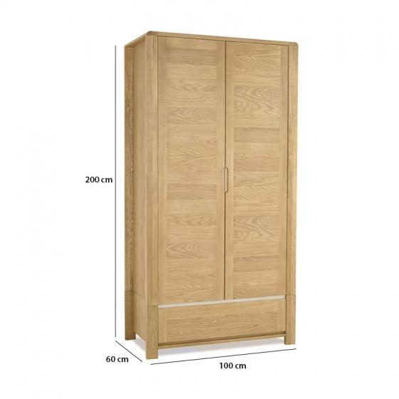 Tủ quần áo Casa 2 cánh gỗ sồi - IBIE