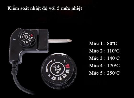 Nồi lẩu điện 2 ngăn Mishio MK112 5 lít