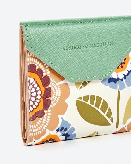 Ví vuông màu xanh lá mới Venuco Madrid C01Q13