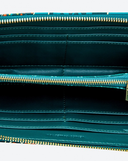 Ví dài màu xanh lá Venuco Madrid W43