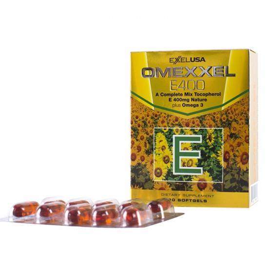 Viên uống bổ sung vitamin E giúp đẹp da Omexxel E400 (30 viên) - xuất xứ Mỹ + tặng mặt nạ dưỡng da