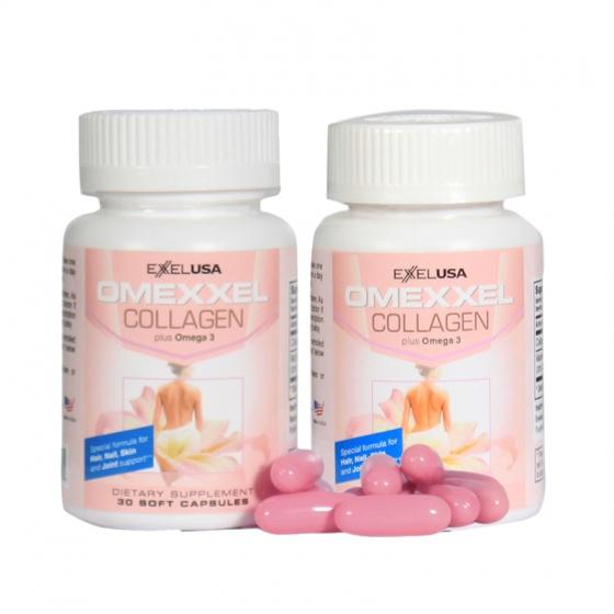 Combo 2 lọ viên uống đẹp da,chống lão hóa Omexxel Collagen ( 60 viên) - chính hãng Mỹ