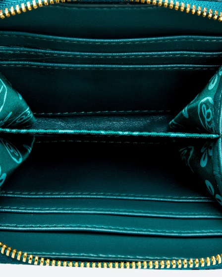 Ví bấm cúc màu xanh lá Venuco Madrid W41