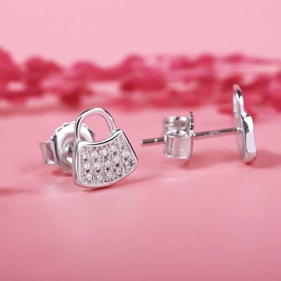 Bông tai bạc Security Locks