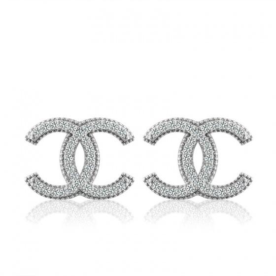 Bông tai bạc Pretty Chanel