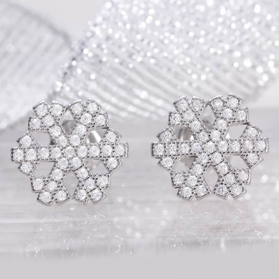 Bông tai bạc Special Snowflakes