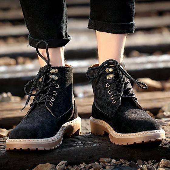 Giày boot cổ cao thời trang nam LN32B