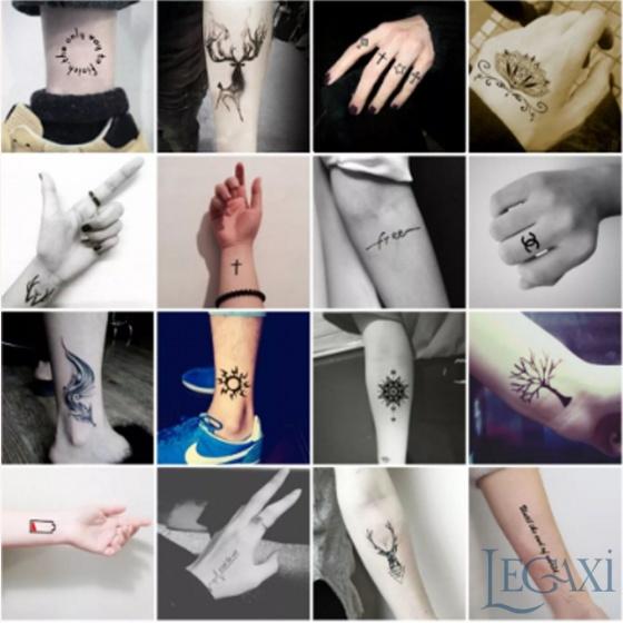 30 tờ hình xăm dán tattoo tha thu từ  70-80 hình xăm
