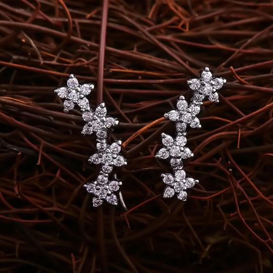 Bông tai bạc Right Flower