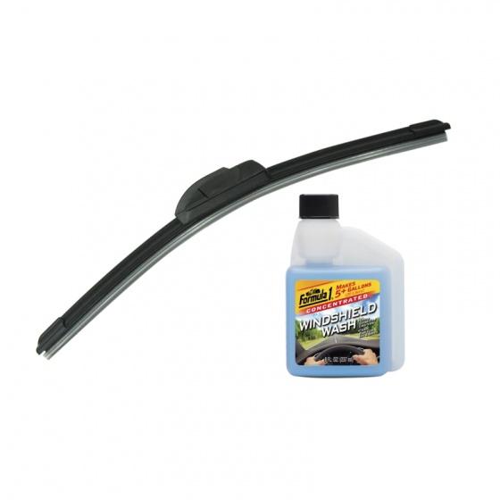 Combo gạt mưa không xương Viair 323 (16 inch/400 mm)-nước châm kiếng đậm đặc Formula 1