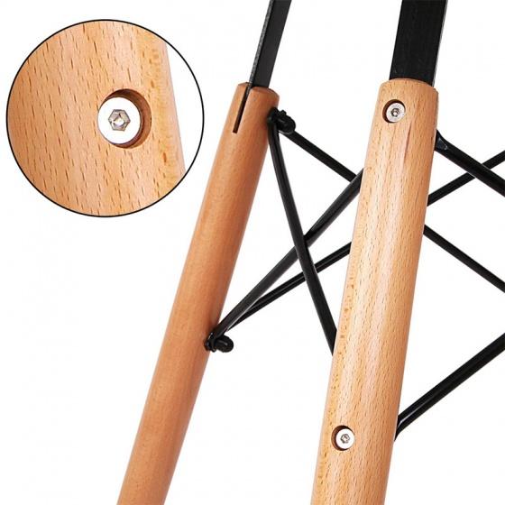 Ghế Eames chân gỗ DSW ( Nâu )