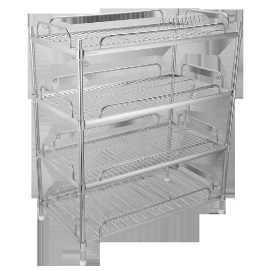 Kệ inox 304 úp chén dĩa 4 tầng Goda
