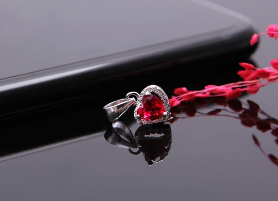 Bộ trang sức bạc Ruby HeartEropi