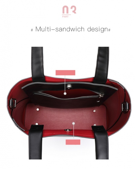 Túi tote Venuco Madrid S395 màu đỏ đen