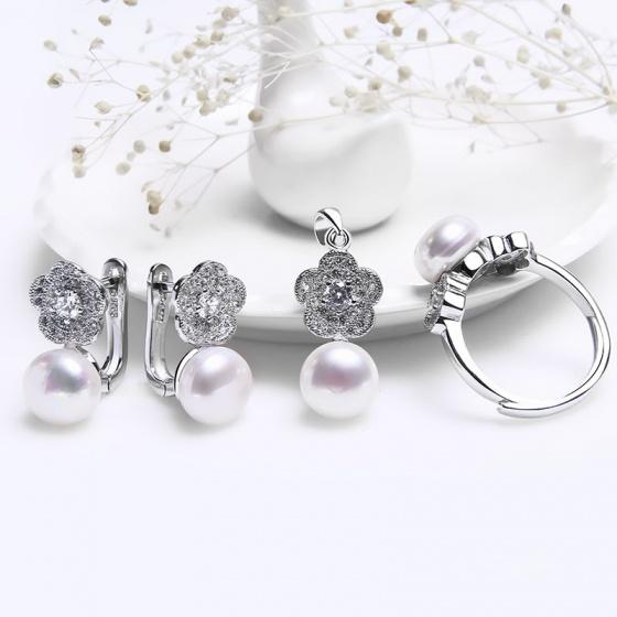 EROPI-Bộ trang sức bạc Tiffany Pearl