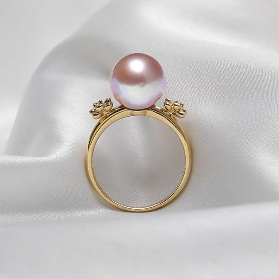Nhẫn vàng 18k ngọc trai thật Pipie 10-11mm