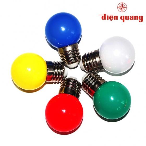 Bộ 03 đèn led bulb Điện Quang ĐQ LEDBU14G45 01R (1W đỏ)