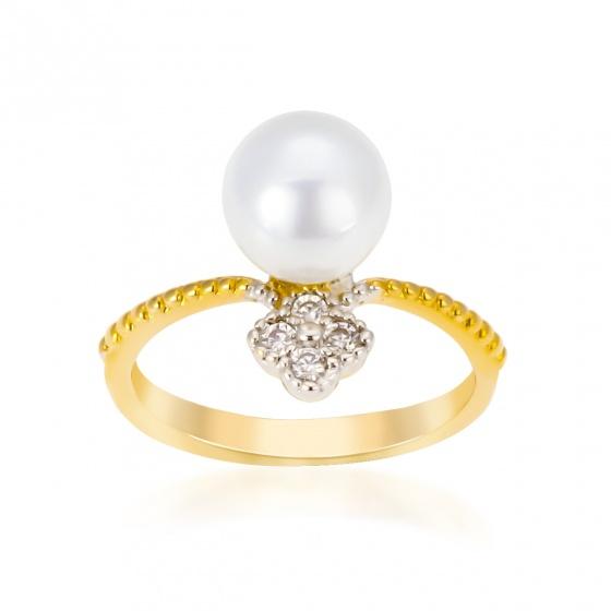 Nhẫn nữ đính đá sang trọng UHA nn04 - vàng