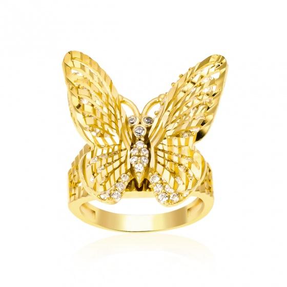 Nhẫn con bướm - vàng