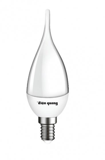 Bộ 03 đèn led nến Điện Quang ĐQ LEDCD04 02727 (2W warmwhite chụp mờ)