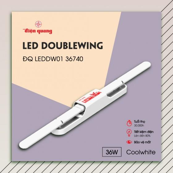 Bộ đèn led Doublewing Điện Quang ĐQ LEDDW01 36740 (36W coolwhite)