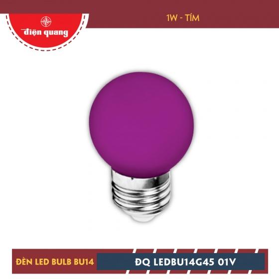 Bộ 03 đèn led bulb Điện Quang ĐQ LEDBU14G45 01V (1W tím)