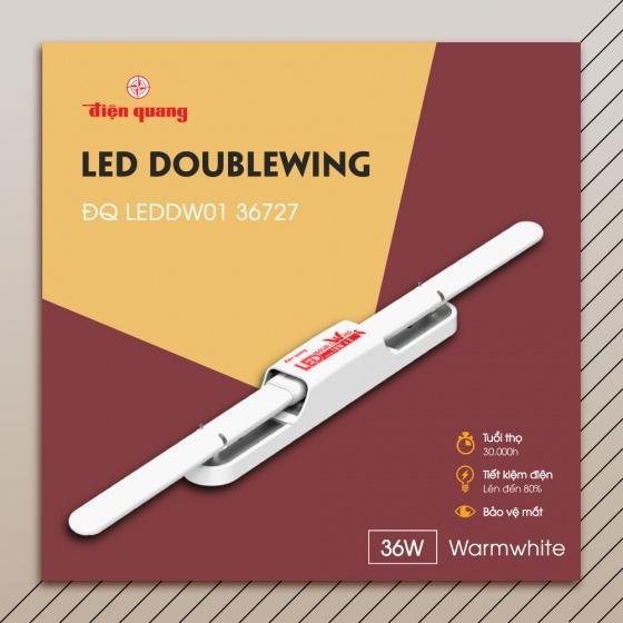 Bộ đèn led Doublewing Điện Quang ĐQ LEDDW01 36727 (36W warmwhite)