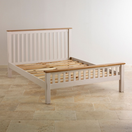 Giường đơn Sintra gỗ sồi 1m4 - Cozino