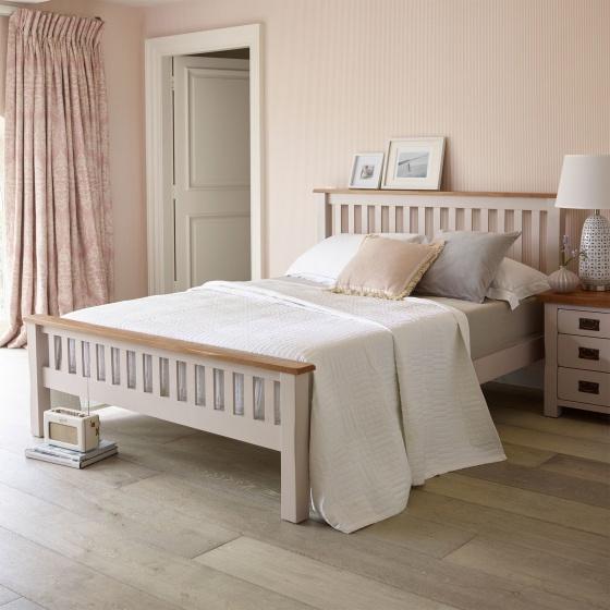 Giường đôi Sintra gỗ sồi 1m8 - Cozino