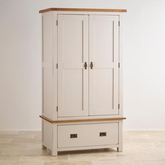 Tủ quần áo Sintra 2 cánh 1 ngăn kéo gỗ sồi 1m - Cozino
